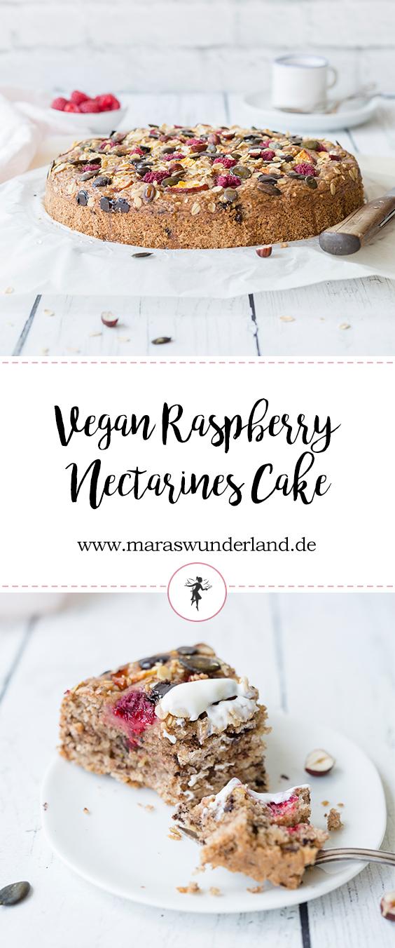Veganer Himbeer-Nektarinen-Kuchen • from Maras Wunderland