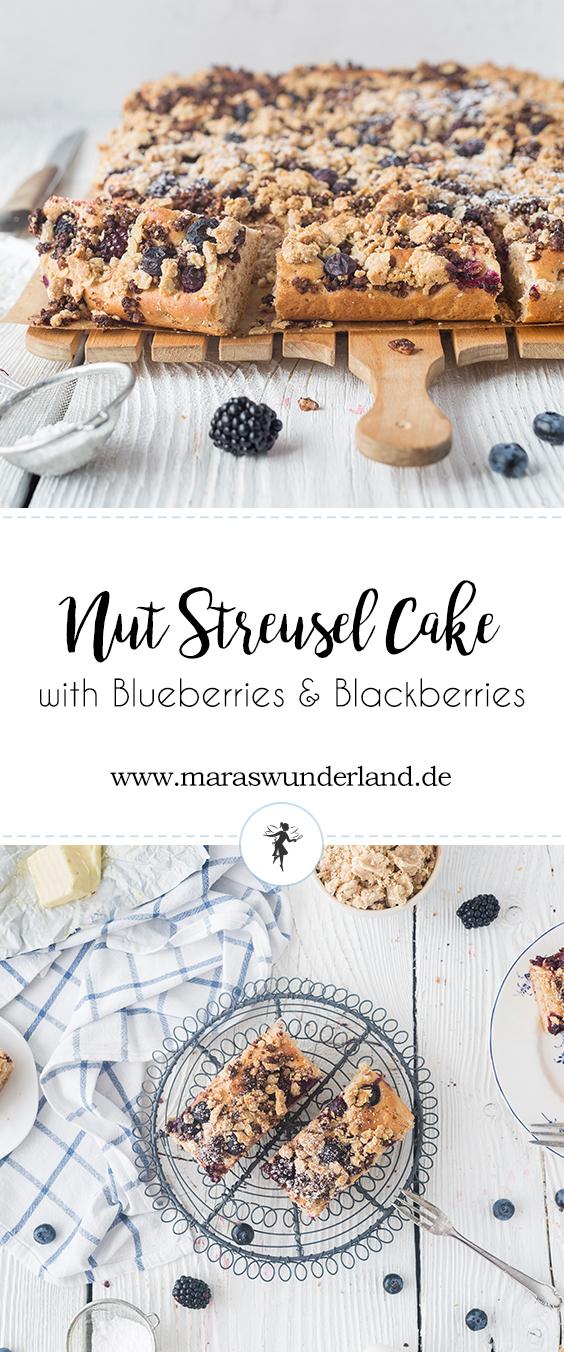 Schokonuss-Streuselkuchen mit Beeren