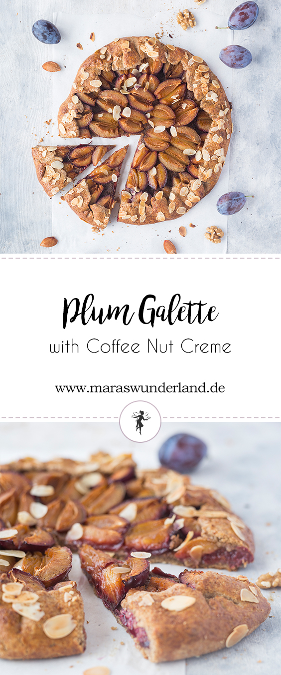 Plum Galette with Coffee Walnut Creme • from Maras Wunderland