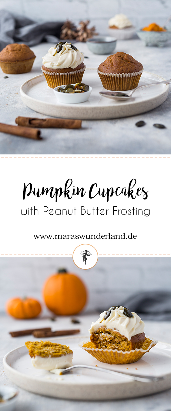 Pumpkin Cupcakes with Peanut Butter Frosting • from Maras Wunderland