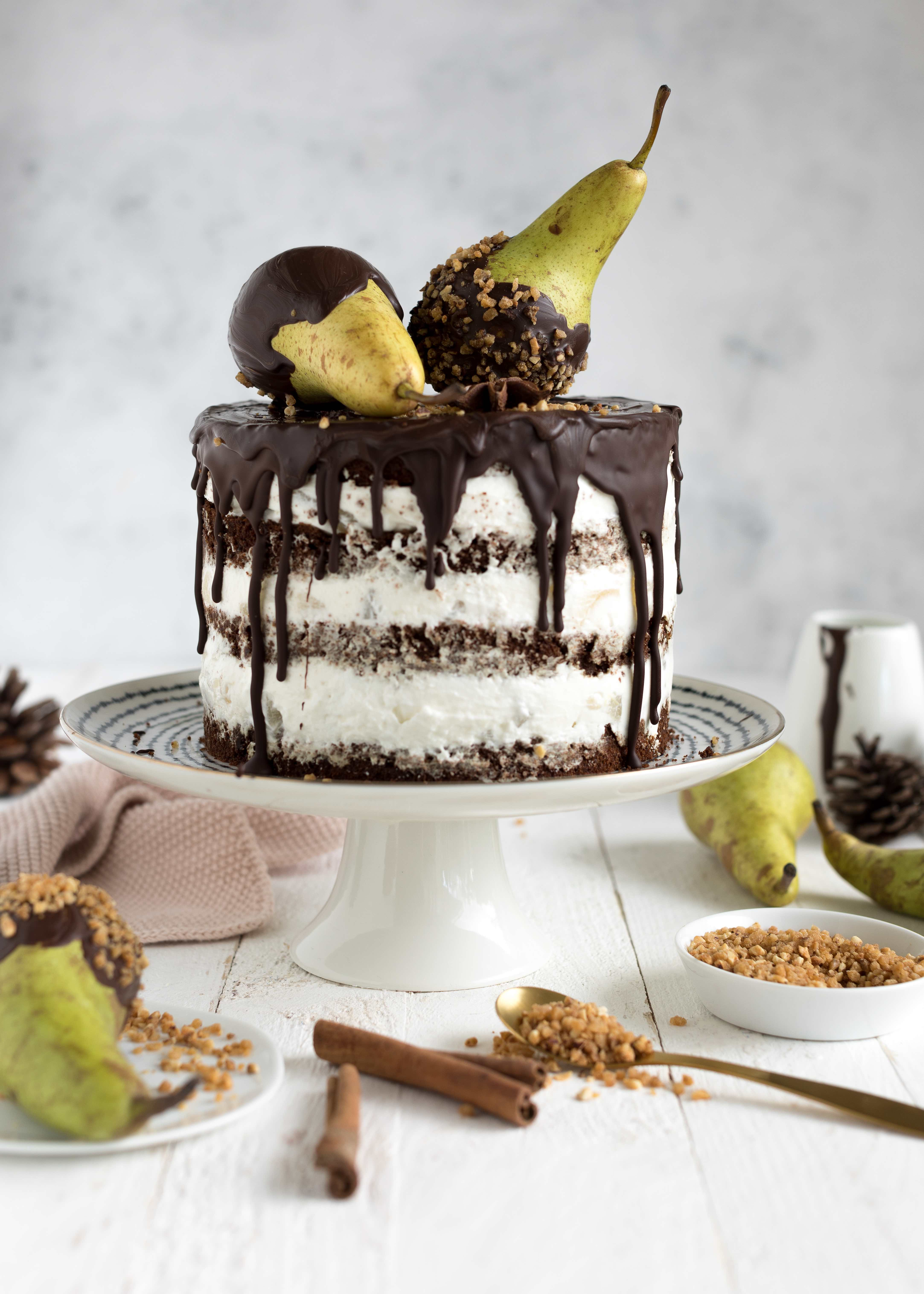 Birnen-Schokoladentorte