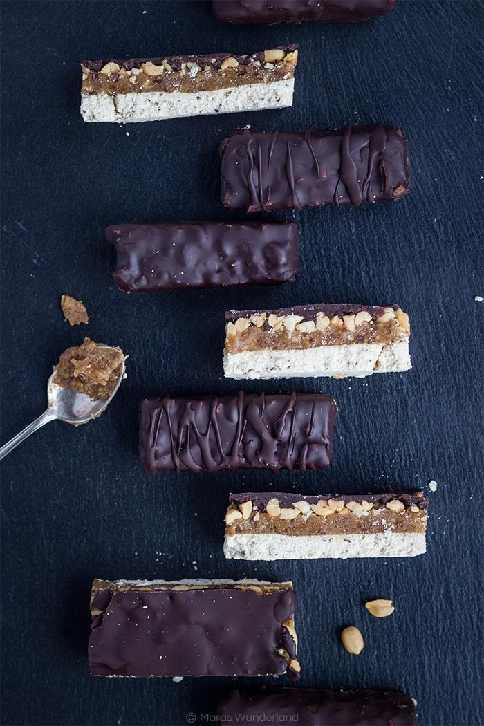 vegan, healthy, glutenfree Snickers • from Maras Wunderland