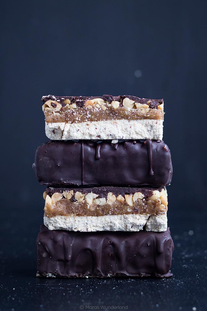 vegan, healthy, glutenfree Snickers • from Maras Wunderland