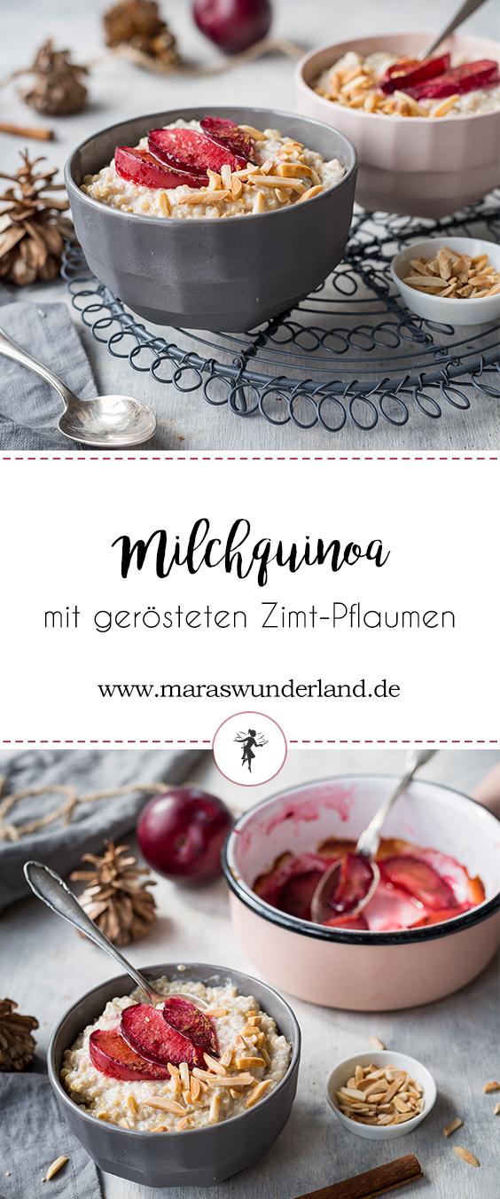 Milchquinoa mit gerösteten Zimt-Pflaumen
