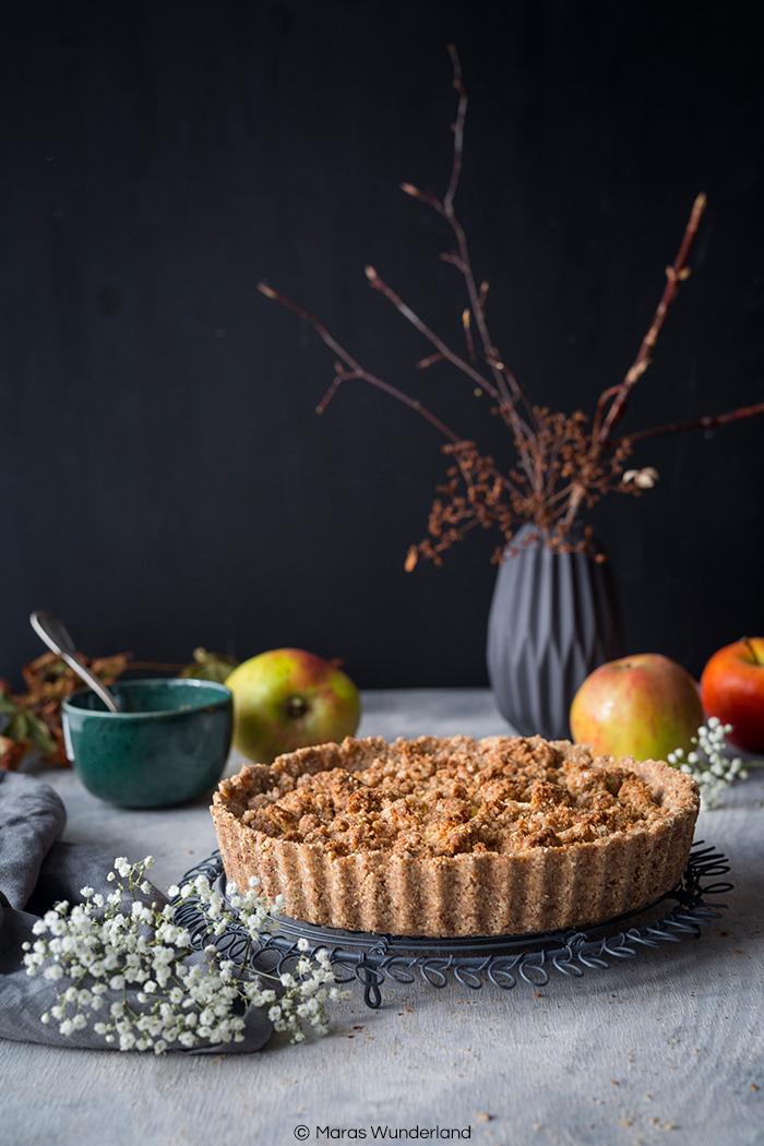 gesunde & vegane Apfel-Hirse-Tarte mit Erdnussbutter