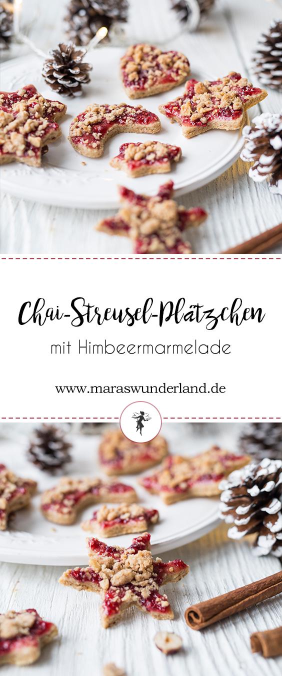 Chai-Streusel-Plätzchen mit Marmelade