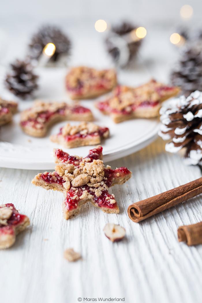 {Werbung} Rezept für leckerste Chai-Streusel-Plätzchen mit Marmelade. • Maras Wunderland #weihnachtsplätzchen #plätzchen #ausstechplätzchen #christmascookies #maraswunderland