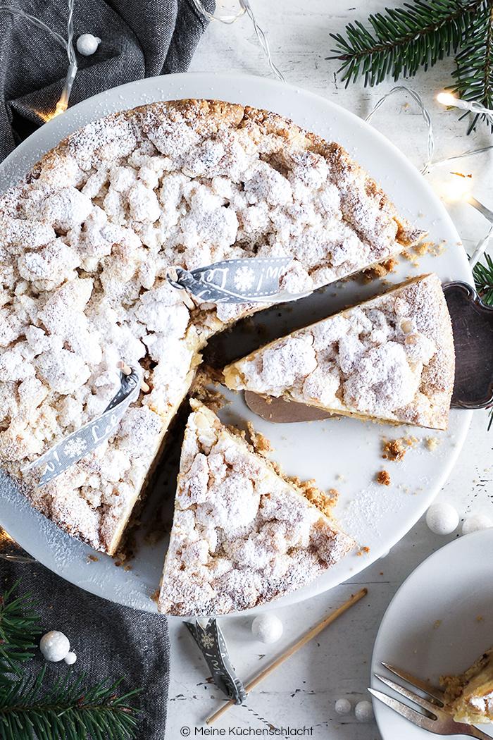 Winter-Apfelkuchen mit Marzipan