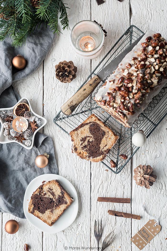 {Werbung} Rezept für weihnachtlichen Marmor-Gewürzkuchen. Wunderbar saftig und perfekter Rührkuchen zur Weihnachtszeit. • Maras Wunderland #weihnachtskuchen #gewürzkuchen #christmastreat #maraswunderland