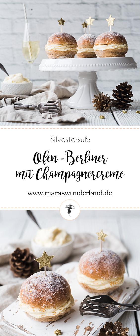 Ofen-Berliner mit Champagner-Creme