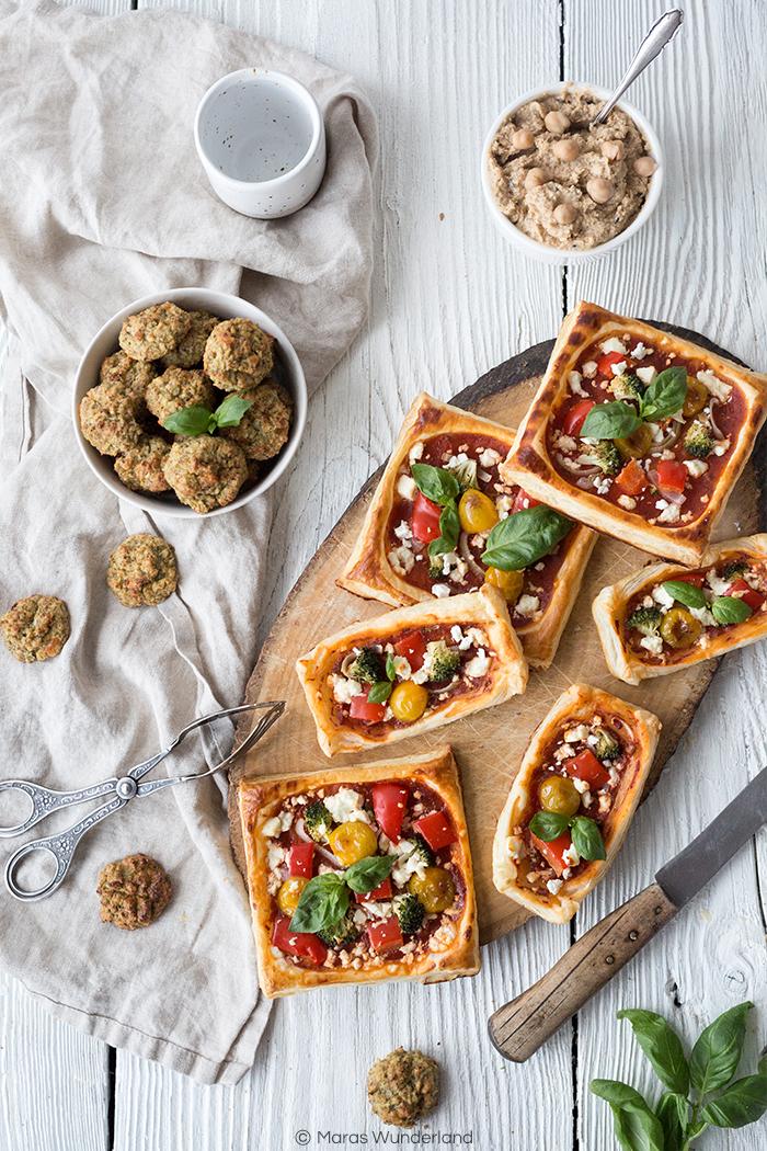 Blätterteig-Pizza & Brokkoli-Bites