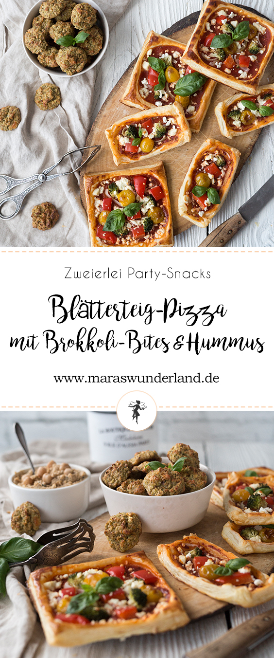 Blätterteig-Pizza & Brokkoli-Bites