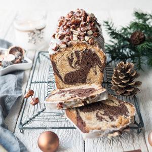 Weihnachtlicher Marmor-Gewürzkuchen