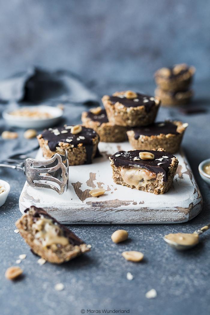 Meine TOP 15 süße gesunde Rezepte: Peanut Butter Granola Cups. Vegane, glutenfrei und einfach richtig lecker! • Maras Wunderland #healthysnack #vegansnack