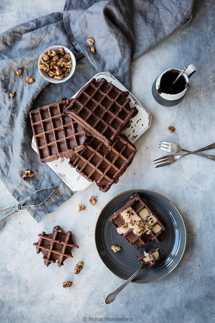 gesunde Brownie Waffeln