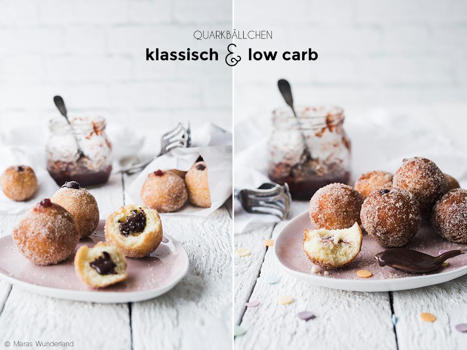 Klassische & low carb Quarkbällchen