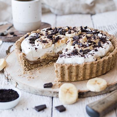 Gesunder Bananen Karamell Kuchen aka Banoffee Pie
