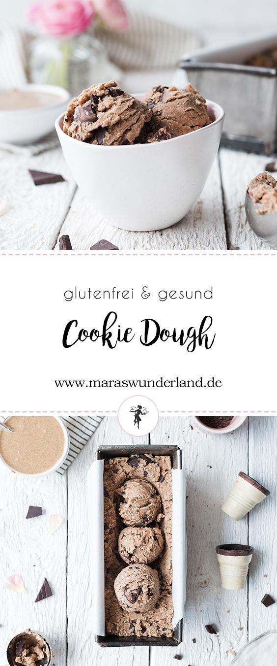 {Werbung} Rezept für gesunden und glutenfreien Cookie Dough oder auch roher Keksteig - mit wenig Kohlenhydraten, aber viel Protein. Perfekt als süßer Snack Zwischendurch.