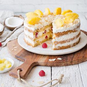 Ananas-Kokos-Torte