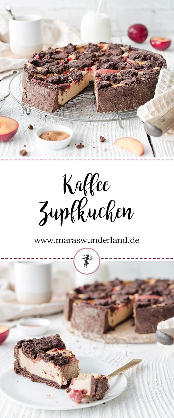 Rezept für einen einfachen Kaffee-Zupfkuchen mit Pflaumen