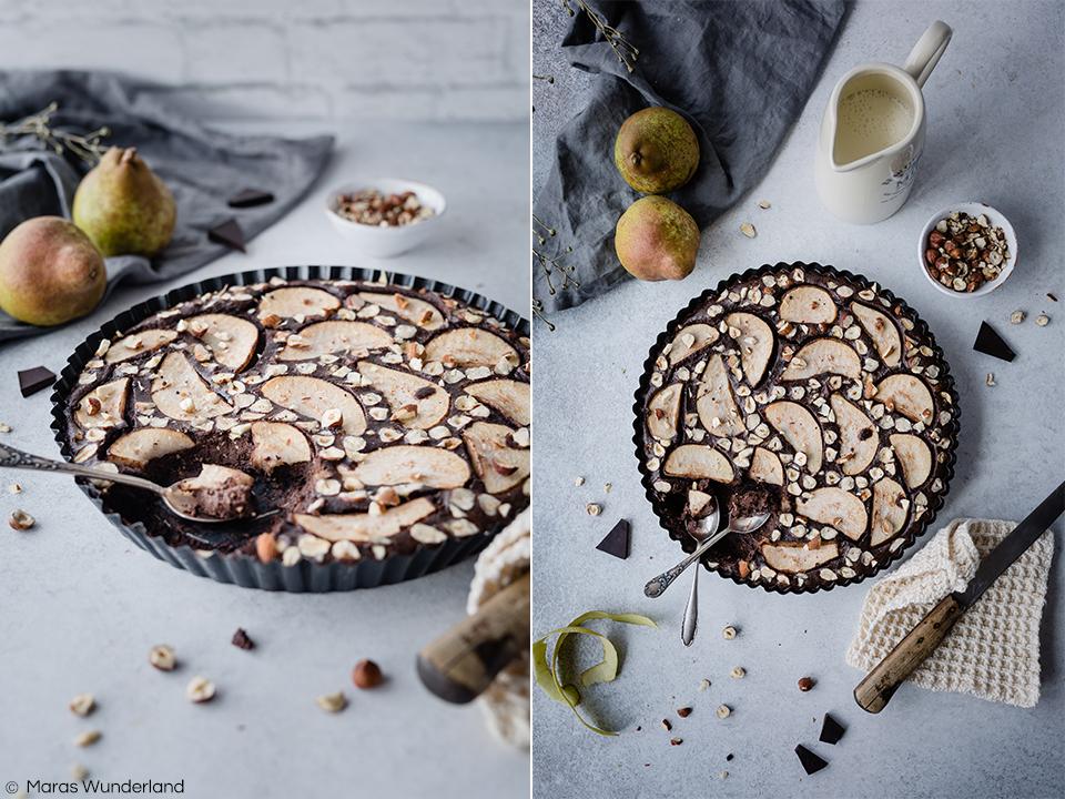 Rezept für ein Birnen-Schoko-Clafoutis. Schnell und einfach gemacht, perfektes Soulfood und Dessert für Herbst und Winter. #maraswunderland #clafoutis #birne #rezept #dessert #schokolade