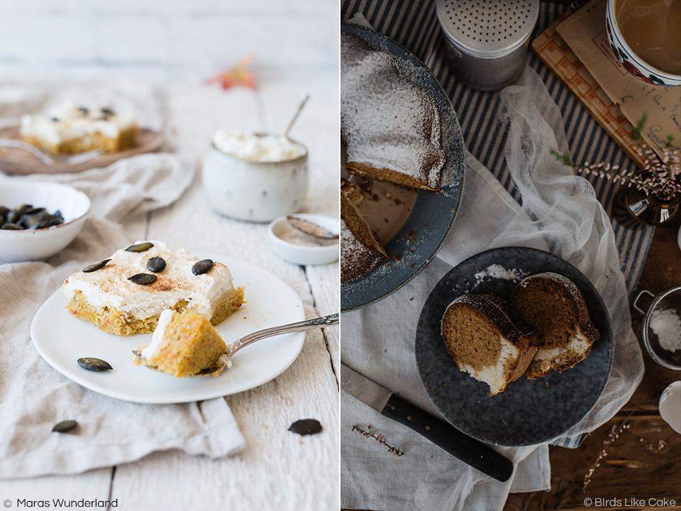 Kürbis Runde bei Ein Herz für Klassiker: Kürbis-Schmandkuchen & Pumpkin Bread mit Cheesecake Füllung