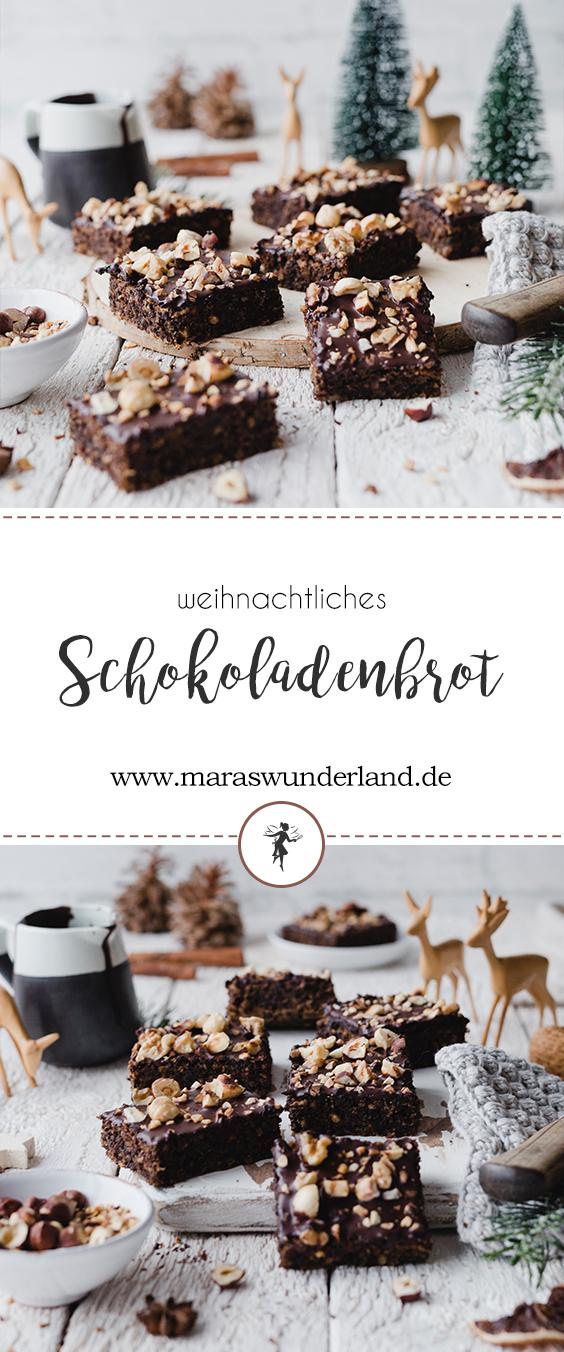 Rezept für weihnachtliches Schokoladenbrot. Schnell und einfach gemacht. Super saftig und wunderbar schokoladig. Perfekt auch an Kindergeburtstagen. • Maras Wunderland #schokoladenbrot #weihnachtskuchen #blechkuchen #christmascake #schokobrot #kindergeburtstag #schokokuchen #schokoladenkuchen #maraswunderland
