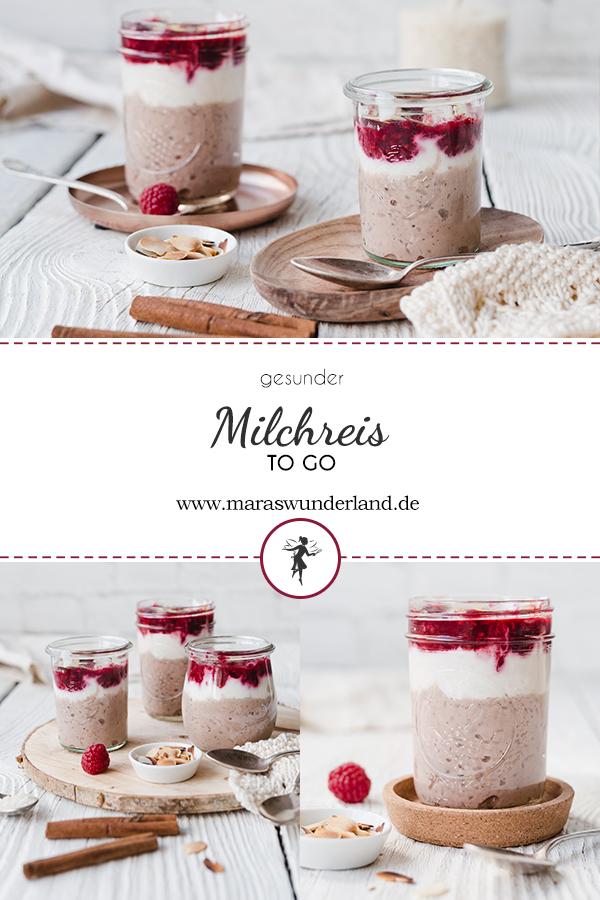 Rezept für gesunden Milchreis To Go mit extra Portion Protein durch Casein und Skyr. Super cremig, schokoladig und frisch zugleich. Schnell und einfach gemacht und gut vorzubereiten. Glutenfrei. • Maras Wunderland #milchreis #milchreistogo #proteinmilchreis #mfrühstückzummitnehmen #breakfasttogo #glutenfreiesfrühstück #glutenfrei #maraswunderland