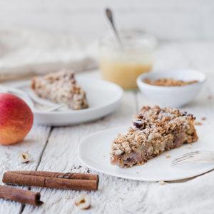 Veganer, gesunder Apfelkuchen