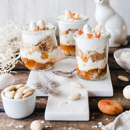 Österliches Aprikosen-Kokos-Dessert