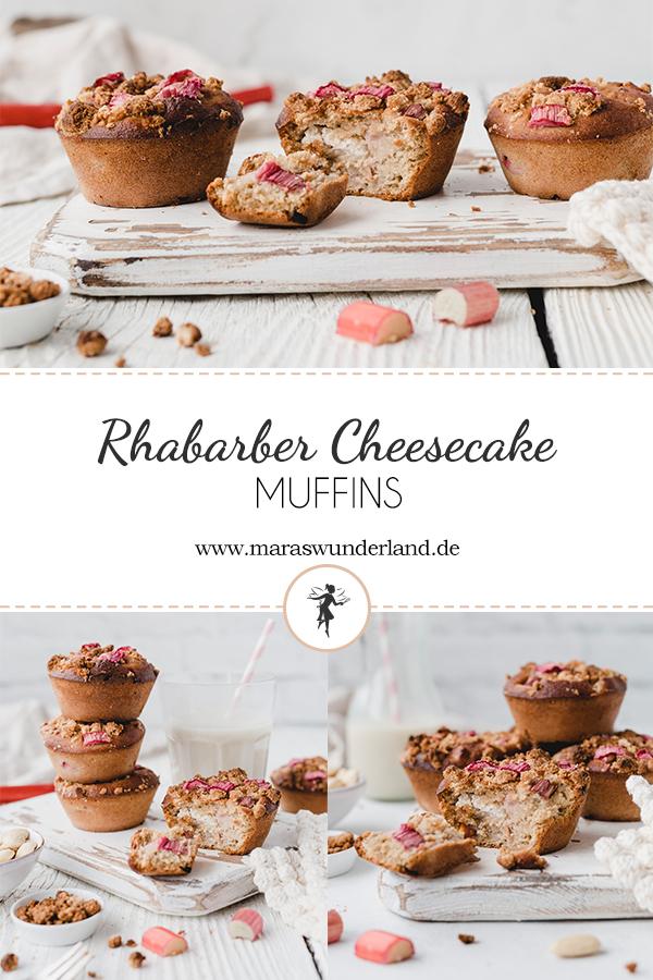 Rezept für glutenfreie Rhabarber-Cheesecake-Muffins. Gesünder, super saftig und perfekt für den Frühling und das Osterfest. Einfach herzustellen. Haferflocken-Rührteig mit Rhabarber und Käsekuchenkern. • Maras Wunderland #rhabarbermuffins #rhubarb #rhabarberkuchen #rhubarbcake #muffins #osterkuchen #osterrezept #frühlingskuchen #glutenfrei #glutenfree #glutenfreibacken #gesundbacken #healthybaking