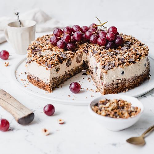 Gesündere Trauben-Cappuccino-Torte