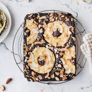 Gesunde, glutenfreie Ananas-Brownies
