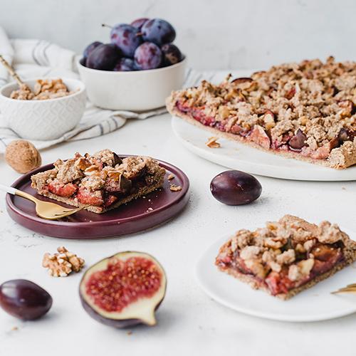 Gesünderer & veganer Feigen-Zwetschgenkuchen