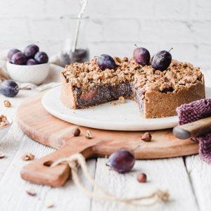 Veganer Zwetschgen-Mohnkuchen