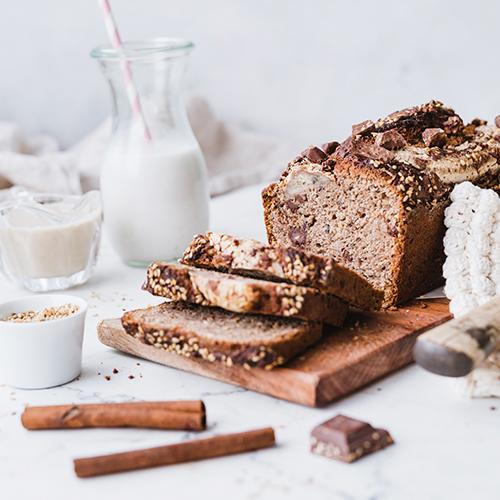 Gesundes, veganes Tahini Banana Bread