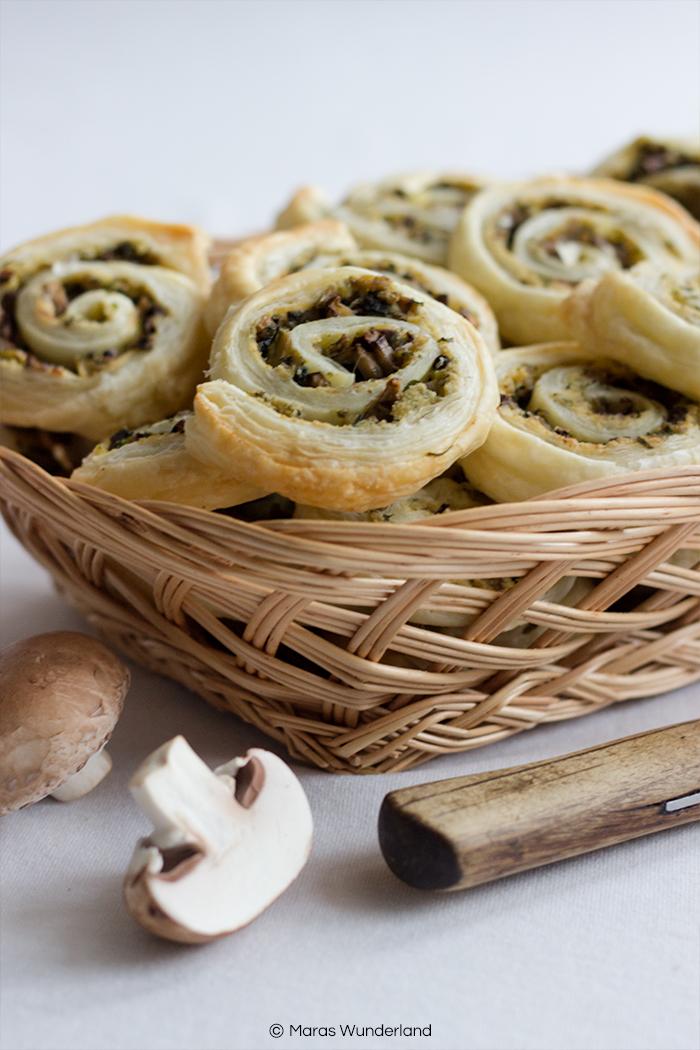 vegane Pilz-Zucchini-Schnecken