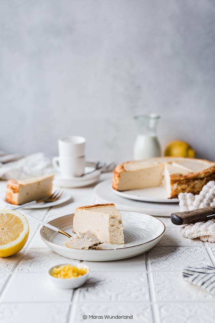 Lower Carb & gesünderer Käsekuchen ohne Boden. Ein schnelles und einfaches Rezept für jeden Anlass. Für Groß und Klein. Der schmeckt jedem. • Maras Wunderland #maraswunderland #cheesecake #käsekuchen #kuchenrezept #schnellerkuchen #einfacherkuchen #käsekuchenohneboden
