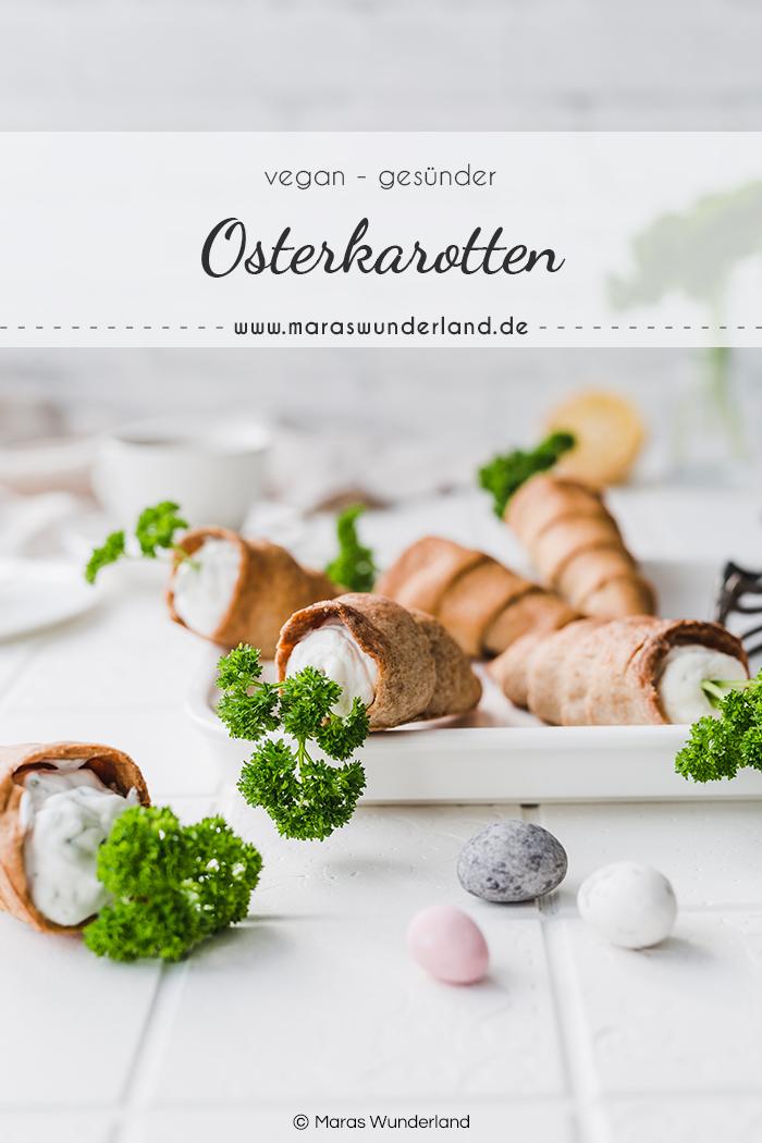 Gesunde & vegane Osterkarotten. Herzhaft & süß. Ein kreatives Rezept für die Osterzeit - als Snack, zum Frühstück oder zum Brunch. • Maras Wunderland #osterrezept #eastertreat #easter #easterrecipe #osterkarotten #osterbacken #backenmitkindern