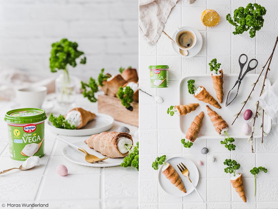{Werbung} Gesunde & vegane Osterkarotten. Herzhaft & süß. Ein kreatives Rezept für die Osterzeit - als Snack, zum Frühstück oder zum Brunch. • Maras Wunderland #osterrezept #eastertreat #easter #easterrecipe #osterkarotten #osterbacken #backenmitkindern