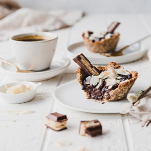 Gesunde Kokos-Schoko-Tartelettes
