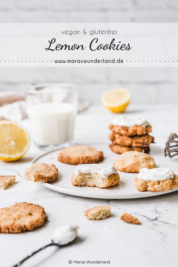 Vegane Lemon Cookies - gesund, glutenfrei, soft und super lecker. Ein schnelles und einfaches Rezept mit Gelinggarantie. • Maras Wunderland #maraswunderland #vegancookies #cookies #glutenfrei #glutenfree #vegan #zitronenkekse #kekse