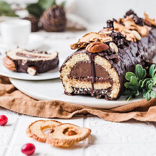 Schokoladiger Bûche de Noël