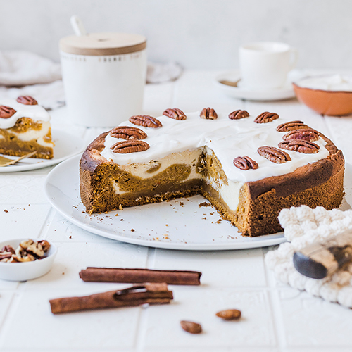 Gesünderer Pumpkin Cheesecake
