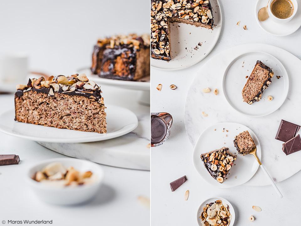 Glutenfreier Nusskuchen ohne Zucker. Gesund und RE'SET geeignet. Schnell und einfach gemacht. Zimtig und würzig. • Maras Wunderland #nutcake #glutenfree #sugarfree