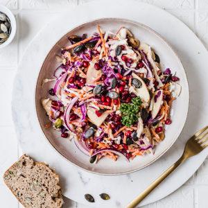 Bunter und veganer Krautsalat