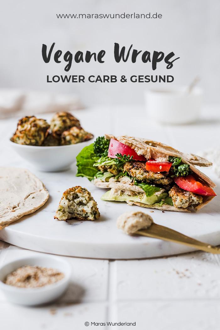 Lower Carb vegane Wraps. Schnell und einfach gemacht auf nur wenige Zutaten. • Maras Wunderland #vegan #snack #wraps #lowcarb