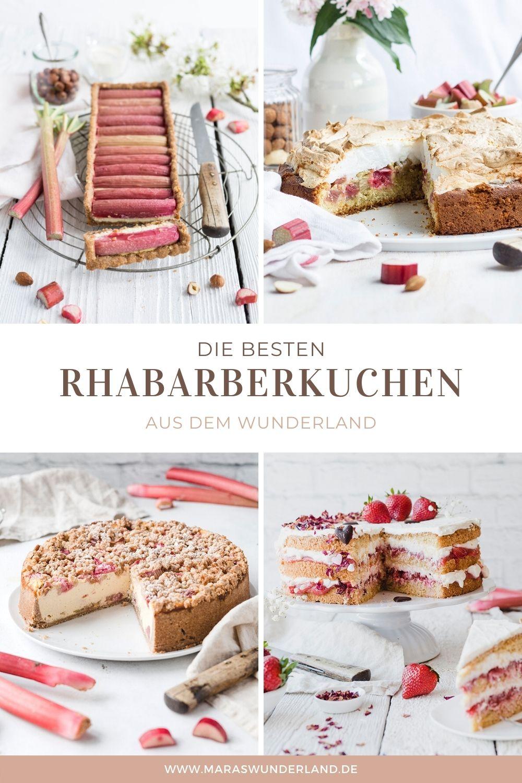 Die besten Rhabarberkuchen aus dem Wunderland