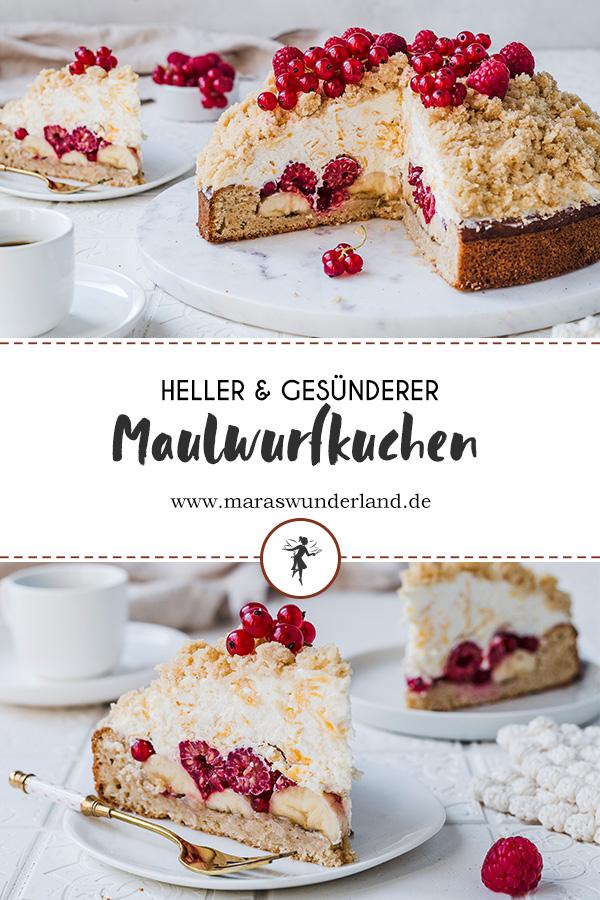 Heller Maulwurfkuchen in der Sommer-Edition. Gesünder, locker leicht und super saftig. • Maras Wunderland