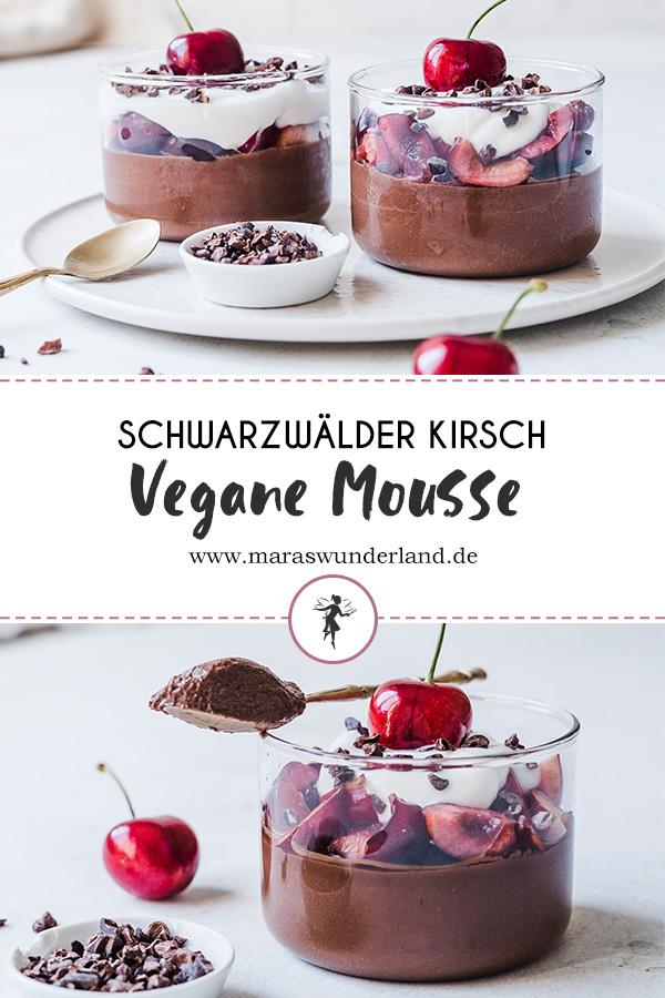 Diese vegane Schwarzwälder Kirsch Mousse ist cremig, schokoladig & unglaublich lecker. Schnell und einfach gemacht und gesund. RESET geeignet. • Maras Wunderland